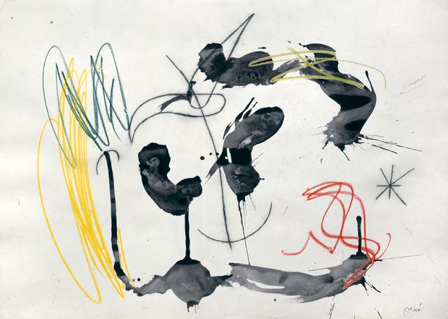 , 'Personnage et oiseau dans la nuit (W7813),' 1966, Galerie Ernst Hilger