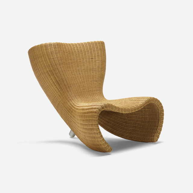 Amazing Marc Newson Wicker Chair 1988 Artsy Andrewgaddart Wooden Chair Designs For Living Room Andrewgaddartcom