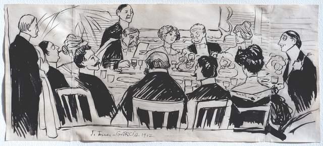 , 'El banquete,' 1912, Galería de las Misiones