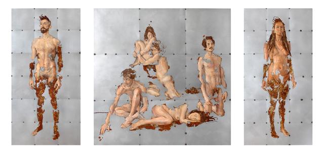 , 'L'isola (triptych),' 2017, Accesso Galleria