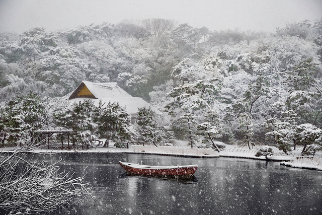 , 'Boat Covered in Snow in Sankei-en Gardens, Yokohama, Japan,' 2014, Cavalier Galleries