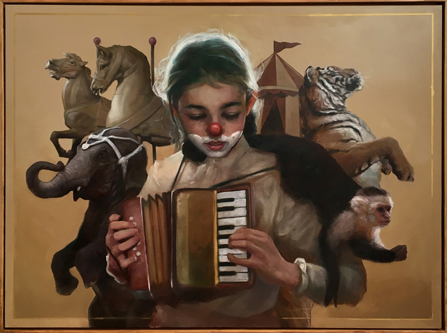 , 'Caroline and the accordion,' 2018, StolenSpace Gallery