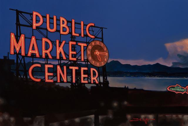 , 'Market at Dusk,' 2018, Patricia Rovzar Gallery