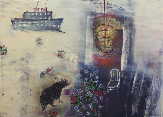 Inez Storer, 'Nightfall', 2020, Painting, Oil and mixed media on panel, Seager Gray Gallery