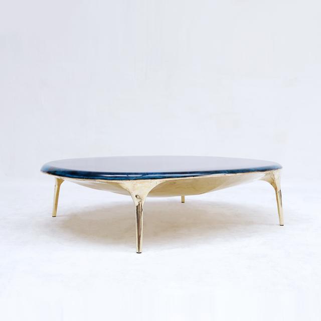 Valentin Loellmann, 'Blue Brass Coffee Table ', 2019, Twenty First Gallery