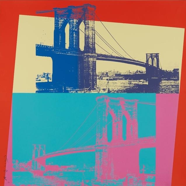 Andy Warhol, 'Brooklyn Bridge', 1983, Print, Screenprint, Frank Fluegel Gallery
