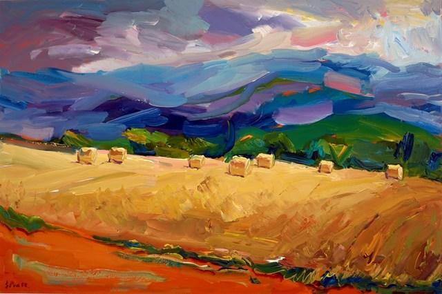 , 'Barley Fields, Massif Central,' 2017, Clarendon Fine Art