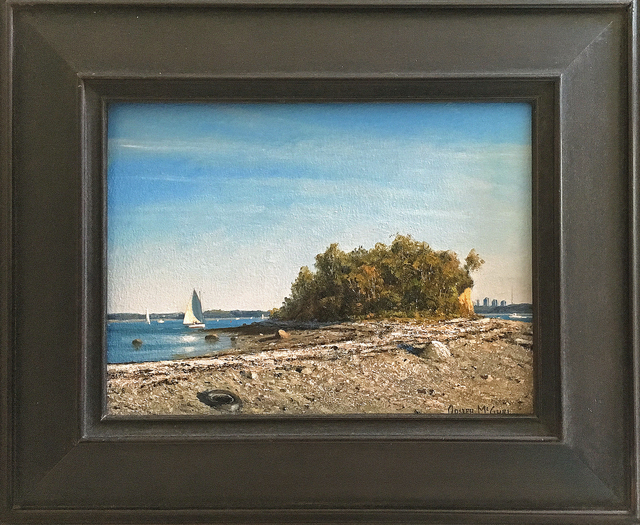 Joseph McGurl, ' The Boston Harbor Islands Project: Field Painting, Afternoon on Prince Head', 2018, The Guild of Boston Artists