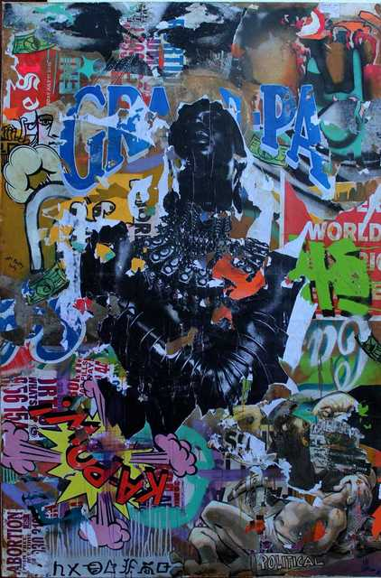 Mncedi Madolo, 'Untitled (2) ', 2020, Drawing, Collage or other Work on Paper, Collage on canvas, Gallery Fanon