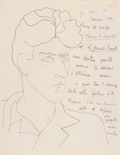, 'LE MYSTERE DE JEAN L'OISELEUR, AUTOPORTRAIT NR 25,' 1924, Galerie des Modernes