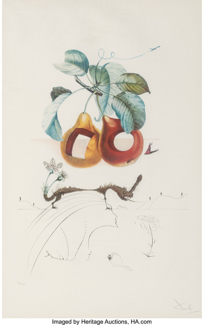 Salvador Dalí, 'Fruits Trouees (Fruit with Holes), from Les fruits', 1969, Heritage Auctions