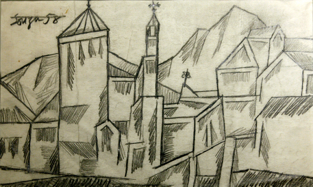 , 'Untitled (Landscape with Church),' 1958, Aicon Gallery