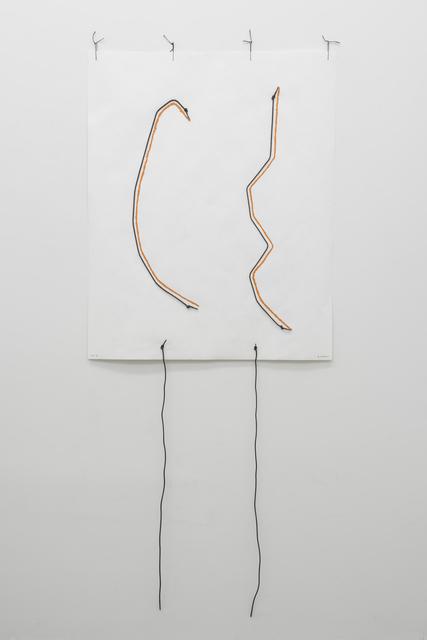 , 'Untitled (shoelace drawing),' 2012, Maisterravalbuena
