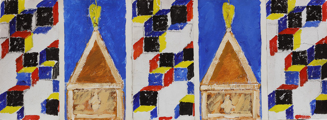 , 'The Stones of Venice Il Campanile di San Marco Polyptych (Study for Regent Street Flags/RA250 Row 4),' 2018, Marlborough London