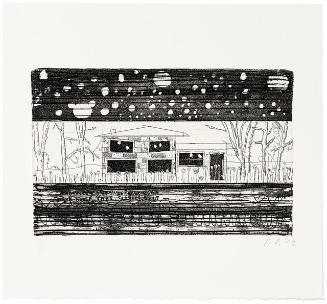 Peter Doig, 'The House that Jack Built', 2014, Print, Etching from copper plate onto Zerkall paper 250 g/m²; Including exhibition catalogue (English) and slipcase, Fondation Beyeler