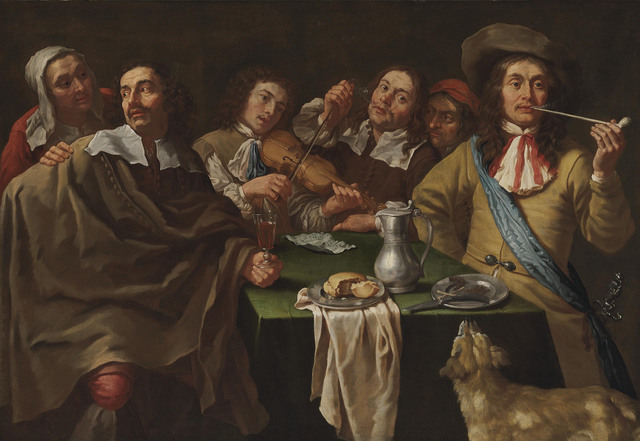 , 'A tavern interior with soldiers merrymaking around a table,' , Christie's Old Masters