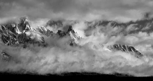 Stormy Tetons (Panorama Version)