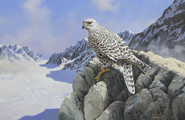 Adrian C. Rigby, 'Untitled - Raptor in Alpine Winter', Heather James Gallery Auction