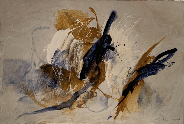 "Cleve Gray, '""White Dance""', 1997, Painting, Acrylic on stiff Arches paper, Anders Wahlstedt Fine Art"