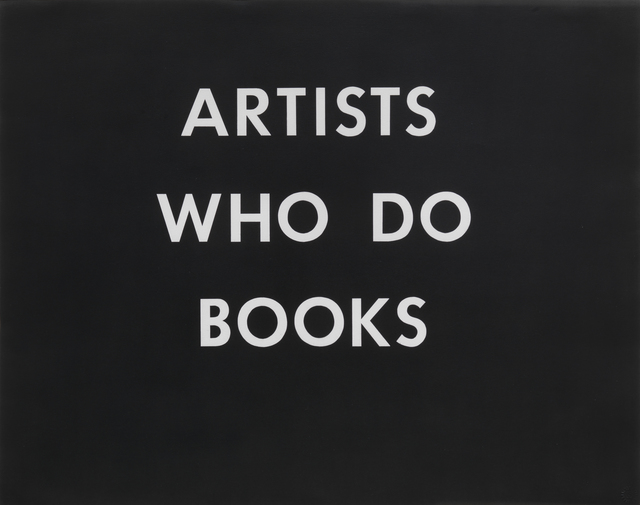 , 'Artists Who Do Books,' 1976, Gagosian
