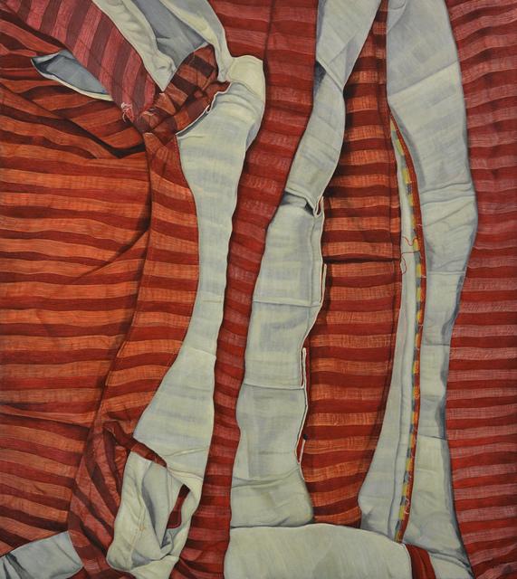 , 'White Lines on Red Horizontals,' 2015, Mind Set Art Center