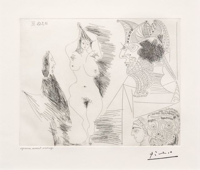 Pablo Picasso, 'Jeune Femme et Gentilhomme..., from the 347 Series', 1968, Leslie Sacks Gallery