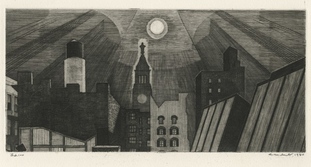 , 'Manhattan Rooftop in Moonlight,' 1980, Childs Gallery