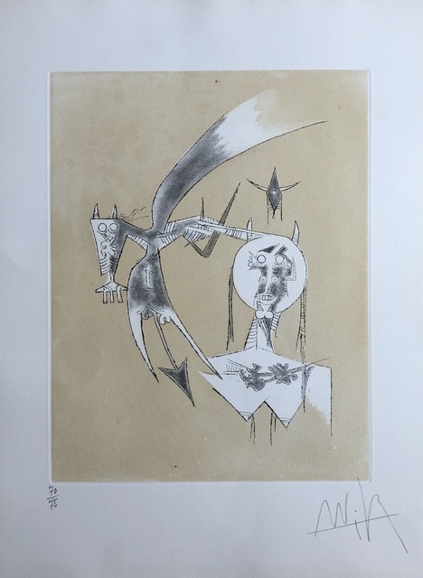 Wifredo Lam, 'De Scheve a Diana (From Scheve to Diana)', 1975, Print, Aquatint, Discoveries in Art
