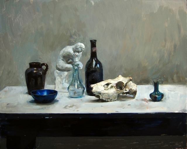 , 'Still life with bottle and skull,' 2018, Gallery 1261