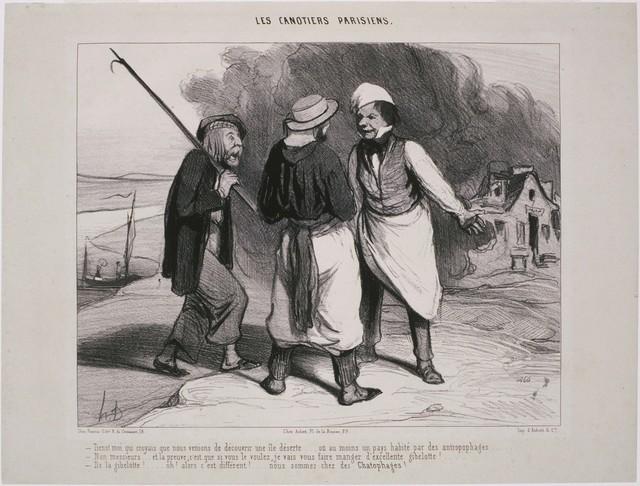 Honoré Daumier, 'Les Canotiers Parisiens: Tiens! Moi qui croyais que nous venions de découvrir…', 1843, Phillips Collection