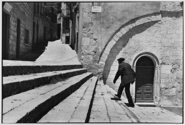 , 'Man climbs stairs, Madonie Mountains, Petralina Sottana, Sicily, Italy ,' 1974, Gallery 270