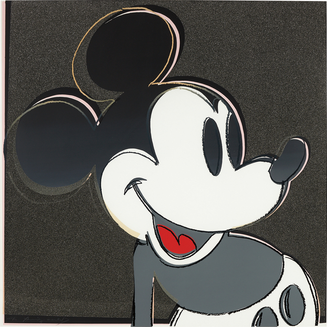 Andy Warhol, 'Mickey Mouse, from Myths', 1981, Print, Screenprint in colors with diamond dust, on Lenox Museum Board, the full sheet, Phillips