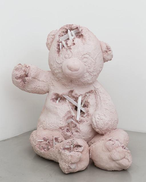 Daniel Arsham, 'Selenite and Rose Quartz Eroded Bear (Large)', 2017, Perrotin