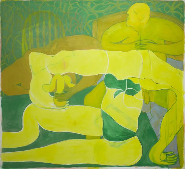 , 'Posing Yellow Figure,' 2018, Dellasposa