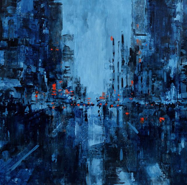 , 'Composition in blue,' 2018, Pelita Hati