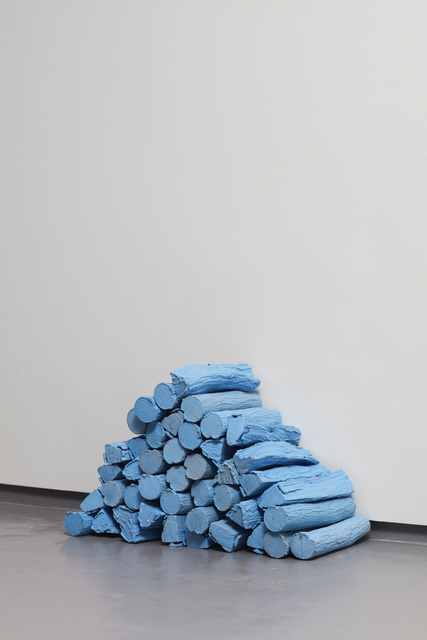 Rowan Smith, 'Untitled (Log Stack in Swimming Pool Blue', 2018, WHATIFTHEWORLD
