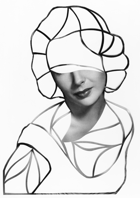 Javier Martin, 'Elizabeth Taylor', 2015, Drawing, Collage or other Work on Paper, Paper Cutting-out, Acrylic, Matthew Liu Fine Arts