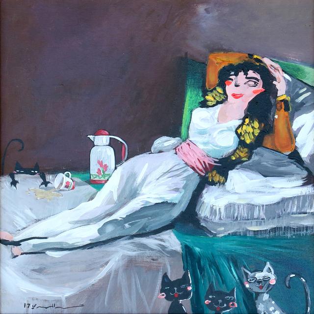 Mohammed Al Mahdi, 'Tea and Cats', 2017, Albareh Art Gallery