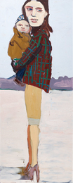 Chantal Joffe, 'Check Jacket and Baby,' 2004, Phillips: 20th Century and Contemporary Art Day Sale (February 2017)