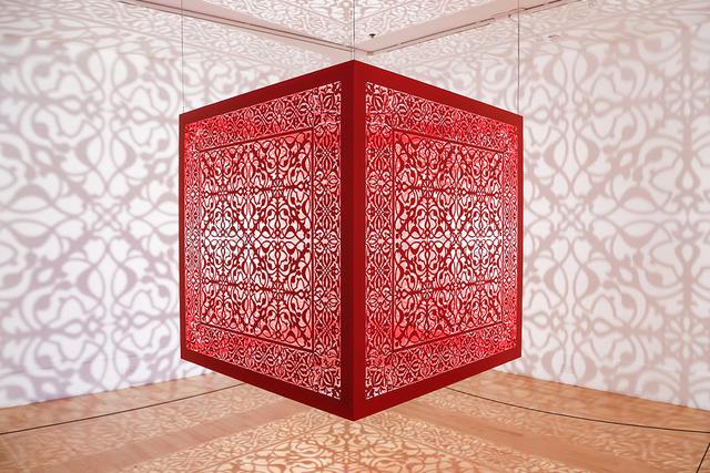 Anila Quayyum Agha, 'Shimmering Mirage (red)', 2019, Sundaram Tagore Gallery