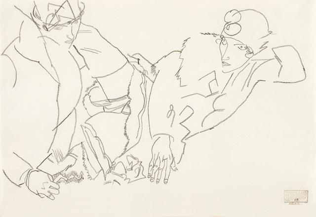 , 'Two Girls (Lovers),' 1915, Galerie Bei Der Albertina Zetter