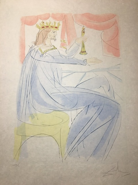 Salvador Dalí, 'King Solomon', 1975, Drawing, Collage or other Work on Paper, Original Engraving + Color, Dali Paris
