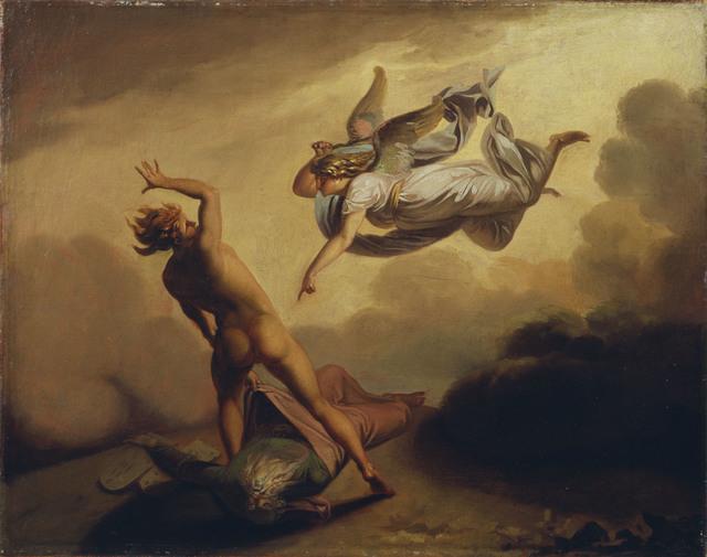 , 'Ærkeenglen Mikael og Satan strides om Moses' afsjælede legeme,' ca. 1782, ARoS Aarhus Art Museum