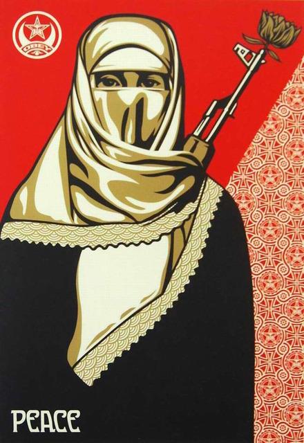 Shepard Fairey, 'Muslim Woman ', 2005, Gregg Shienbaum Fine Art