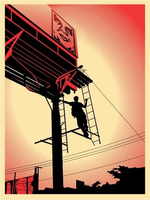Shepard Fairey, 'Bay Shore Billboard', 2011, AYNAC Gallery
