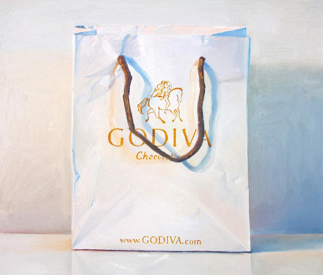 , 'Blue and Orange (Godiva Bag),' 2013, Rosenthal Fine Art