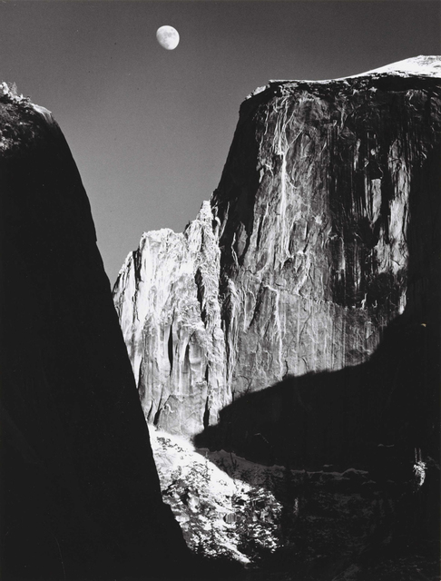 Ansel Adams, 'Moon and Half Dome, Yosemite National Park, CA', 1960, G. Gibson Gallery
