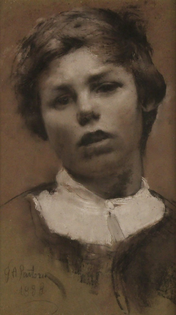Aristide Sartorio, 'Boy with the white collar' 