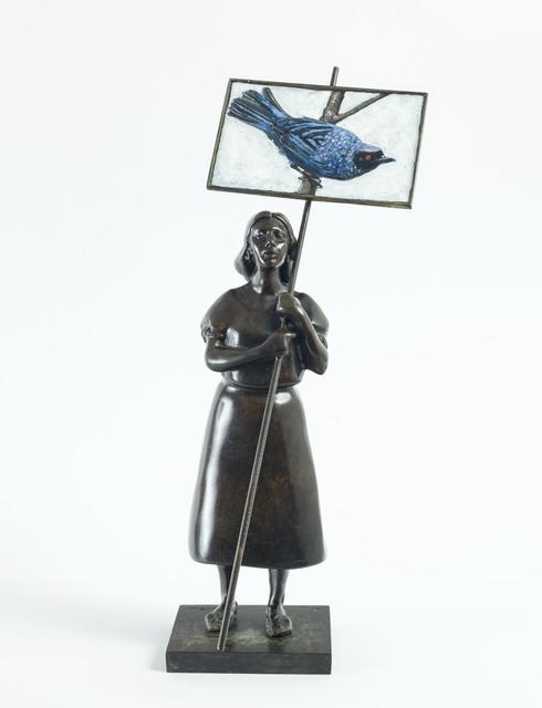 Pedro Ruiz, 'Lola (Blue Bird)', 2019, Beatriz Esguerra Art