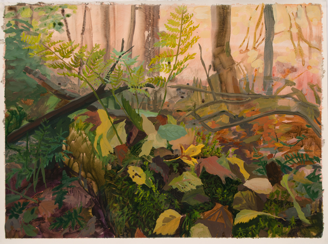 , 'Fallen Log with Fallen Leaves,' 2016, Inman Gallery